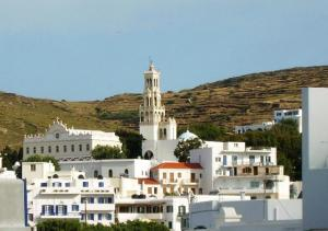 The town of Tinos island